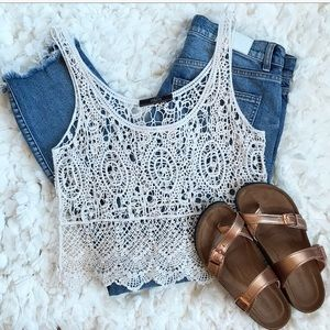 Anthropologie Crochet Knit Tank Top